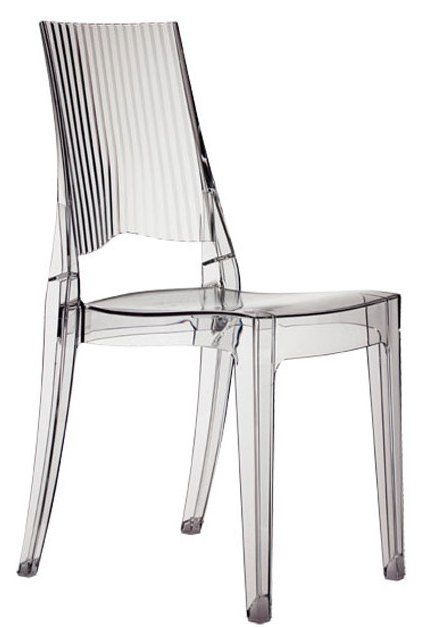 Chaise design translucide glenda lepage mobiliers for Chaise translucide