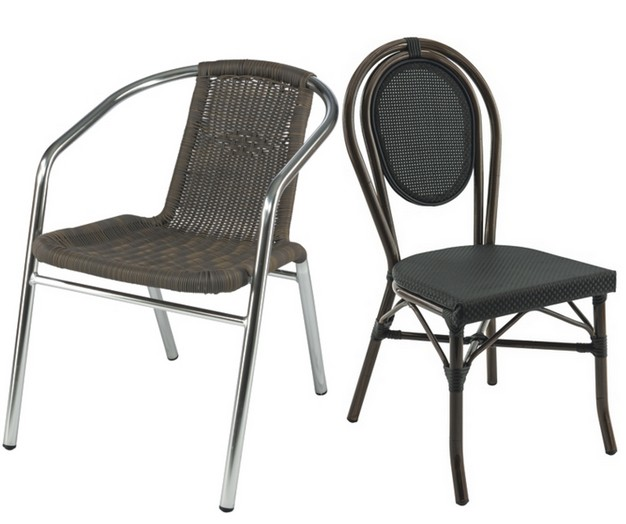chaise aluminium pour restaurant lepage mobiliers. Black Bedroom Furniture Sets. Home Design Ideas