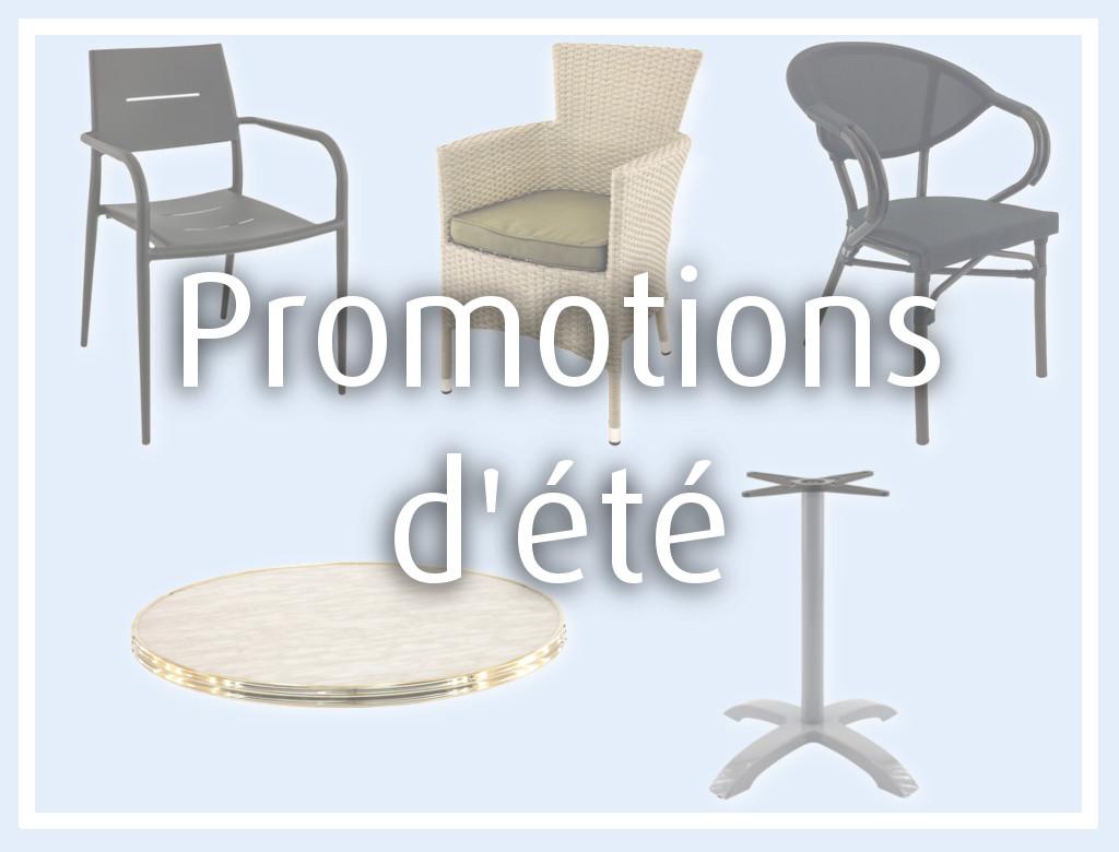 promotion sur mobilier terrasse pour horeca